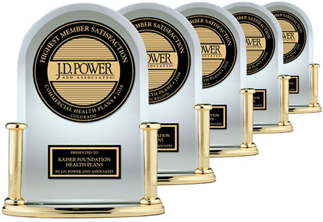 Photo of J.D. Power trophies