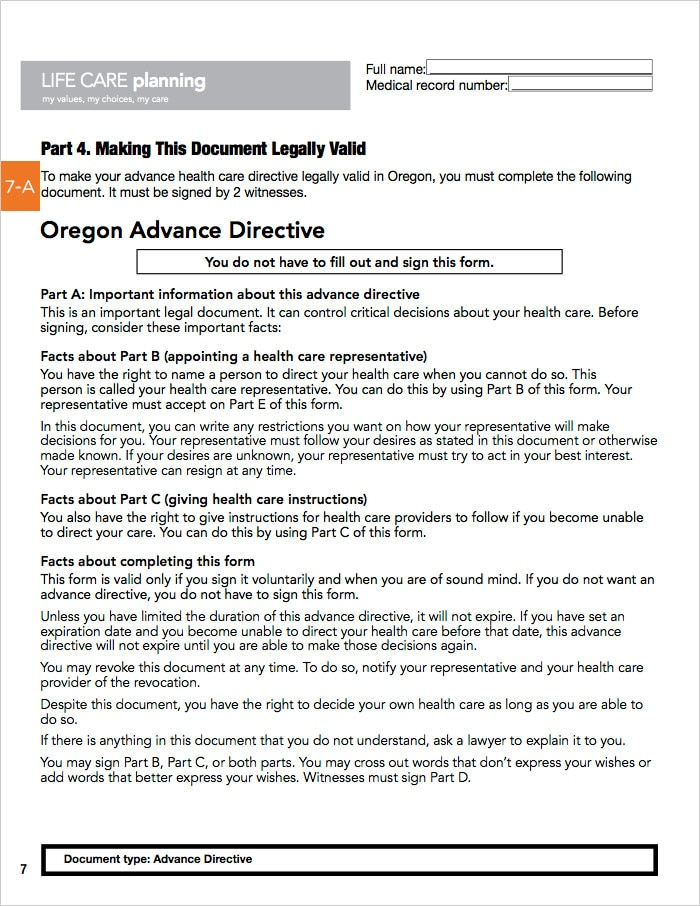 page by page guide to Oregon AHCD -page07