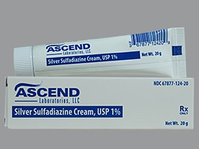 What is silver sulfadiazine cream usp used for