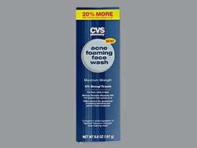 Foaming Acne Face Wash 10 topical cleanser Drug encyclopedia