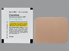 clonidine 0 2 mg/24 hr weekly transdermal patch | Drug