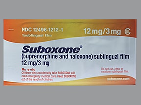 Suboxone 12 mg-3 mg sublingual film | Drug encyclopedia