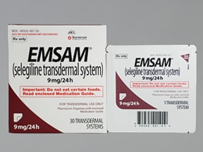 Emsam 6 mg/24 hr transdermal 24 hour patch | Drug encyclopedia