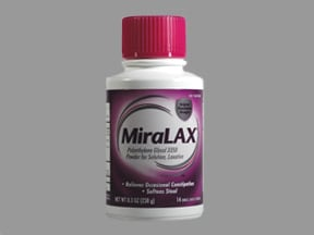 Miralax 17 gram oral powder packet | Drug encyclopedia | Kaiser ...
