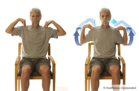 Picture of the elbow-circles exercise for COPD