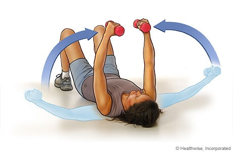 Chest fly exercise