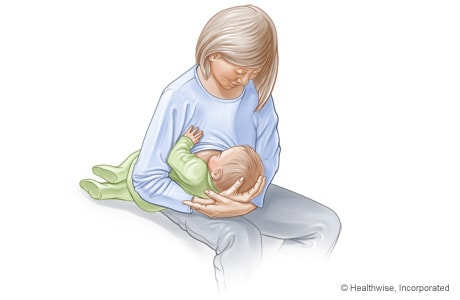 Football hold for breastfeeding